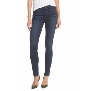 Paige Medium Wash Hoxton Ankle Skinny Jeans